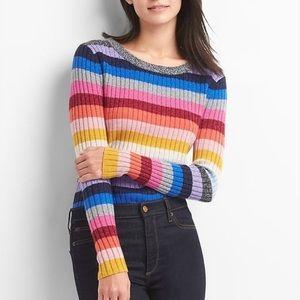 Gap | Metallic Rainbow Stripe Crewneck Sweater